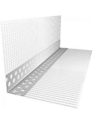Уголок фасадный с сеткой пластиковый 10ммх10ммх2.5м