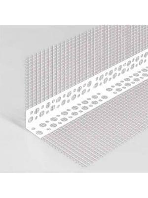 Уголок фасадный с сеткой пластиковый 7ммх7ммх3м