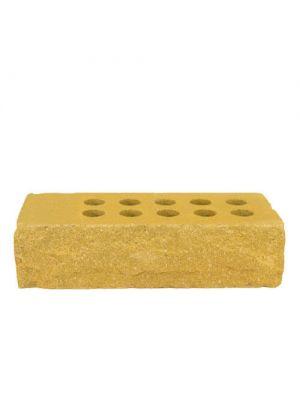 Литос кирпич стандартый пустотелый Жёлтый (ложок)