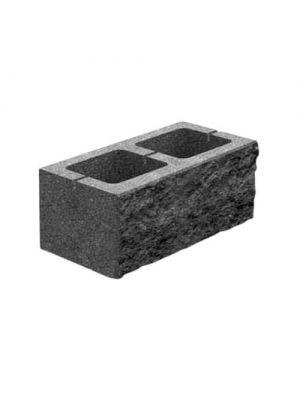 Колотий блок декоративний чорний 400х200х200мм двосторонній скол Золотий Мандарин