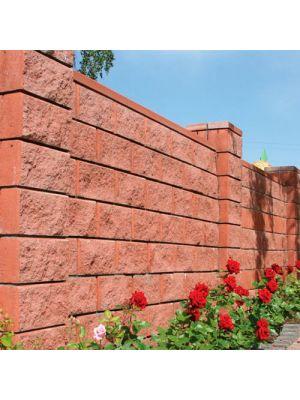 Колотий блок декоративний бордовий 400х200х200мм односторонній скол Золотий Мандарин