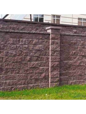Колотий блок декоративний коричневий 400х200х200мм односторонній скол Золотий Мандарин