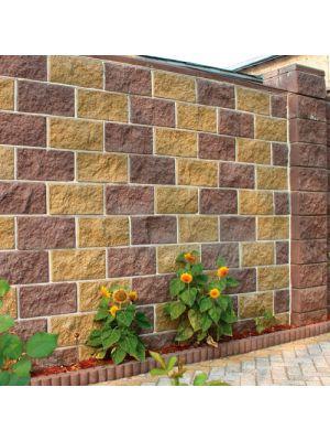 Колотий блок декоративний коричневий 400х200х200мм двосторонній скол Золотий Мандарин