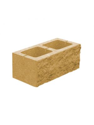 Колотий блок декоративний гірчичний 400х200х200мм односторонній скол Золотий Мандарин