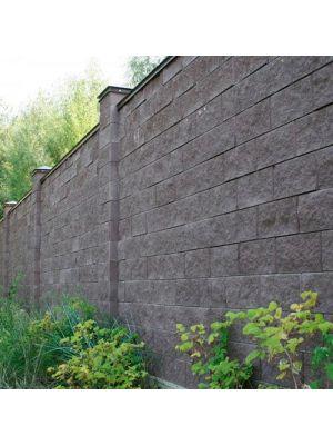 Колотий блок декоративний сірий 400х200х200мм двосторонній скол Золотий Мандарин
