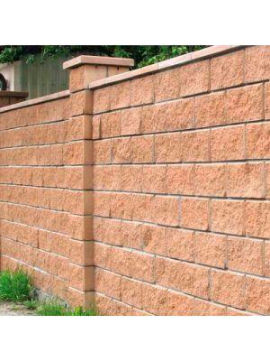 Колотий блок декоративний персиковий 400х200х200мм односторонній скол Золотий Мандарин