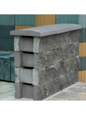 Блок декоративний незнімної опалубки сірий 400х235х500 Золотий Мандарин