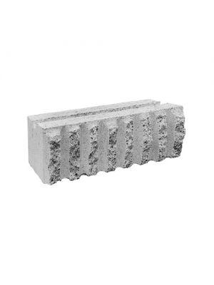 Декоративний блок для забору з канелюрами М-200 Золотий Мандарин сірий