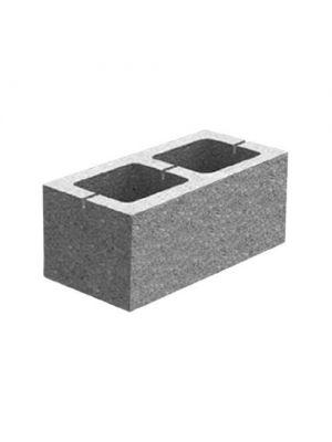Гладкий декоративний блок для забору М-200 Золотий Мандарин