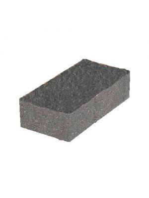 Тротуарная плитка Кирпич стандартный черная 60мм Золотой Мандарин