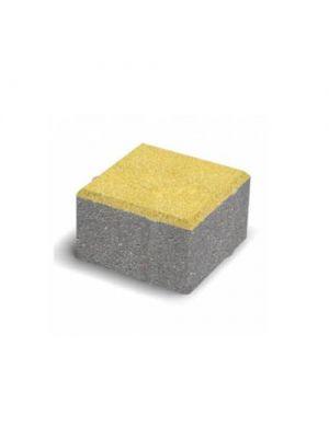 Тротуарная плитка Квадрат Малый желтый 60мм Золотой Мандарин