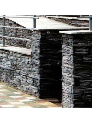 Облицовочный камень Шале гранж угловой элемент Золотой Мандарин (декоративный камень)