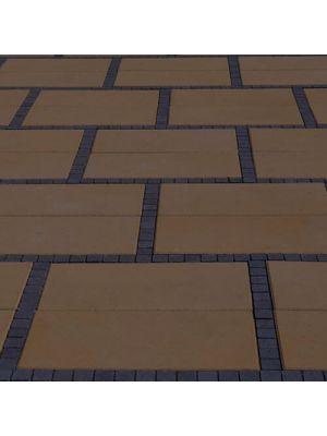 Тротуарна плитка Неоліт 60мм коричнева Золотий Мандарин