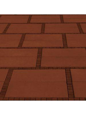 Тротуарна плитка Неоліт 60мм червона Золотий Мандарин