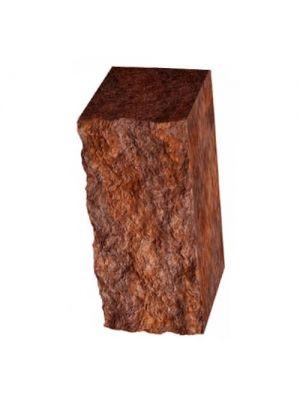 Столбик декоративный бордовый 300х100х150 Золотой Мандарин