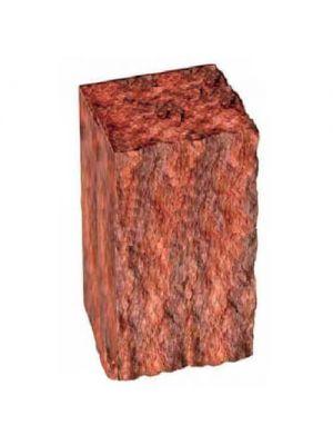 Столбик декоративный бордовый 300х175х150 Золотой Мандарин