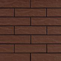 Фасадная плитка коричневая 2 рустикальная