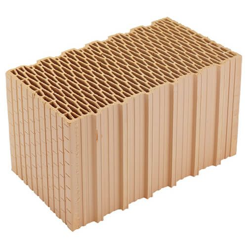 Керамический блок Heluz Family 44 шлифованный (247x440x249)