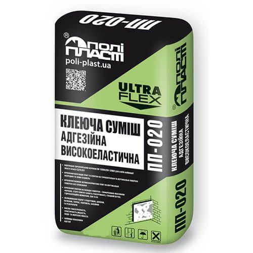 Полипласт ПП-020 Клеевая смесь высокоэластичная, высокоадгезионная ULTRA FLE