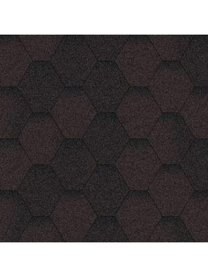 Битумная черепица Акваизол Мозаика коричневая ЭКО
