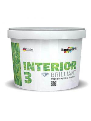Краска интерьерная INTERIOR 3 Kompozit, 7 кг