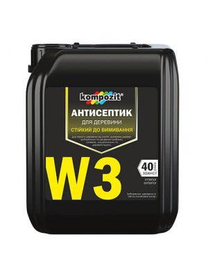 Антисептик трудновымываемый W3 Kompozit, 5л