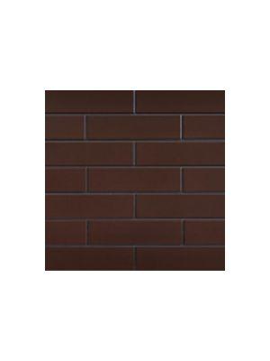 Глазурованная фасадная плитка коричневая