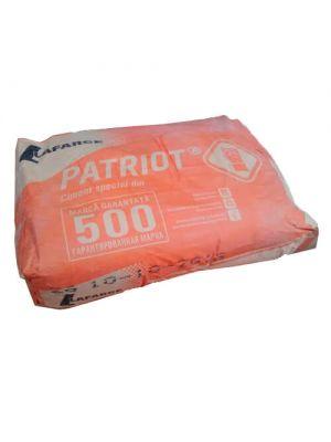 Цемент Lafarge Patriot ПЦ М 500 Д0 (25кг), заводская упаковка