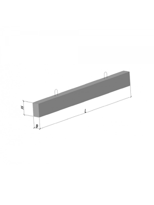 Перемычка плитная 8 ПП 21-71  (бетонная, железобетонная)