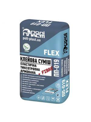 Полипласт ПП-019 Клеевая смесь эластичная тексотропная армированная фиброволокном FLEX