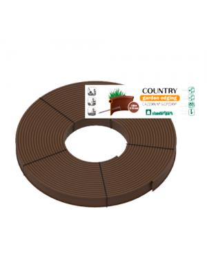Бордюр пластиковый Кантри Б-8000.2.11-ПП коричневый