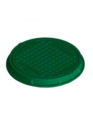 Люк канализационный полимерпесчаный Л-60.80.10-ПК зеленый 4,5 т 770 мм
