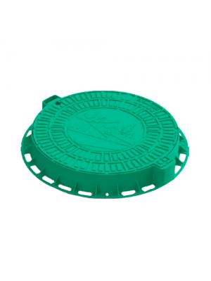 Люк садовый пластиковый зеленый Д 800 мм