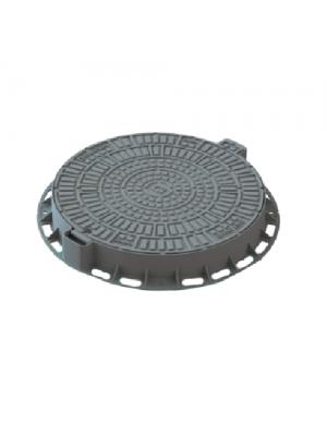 Люк садовый пластиковый Лого серый 800 мм