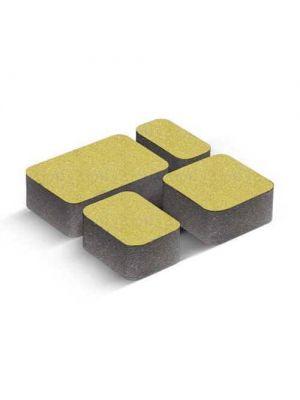 Тротуарная плитка Старый город желтая 40мм Золотой Мандарин