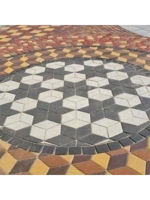 Тротуарная плитка Ромб Золотой Мандарин