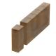 Поребрик фигурный квадратный 500х80, Золотой Мандарин