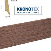 Плинтус Kronotex Ktex 1 Дуб Вейвлес Темный 3072