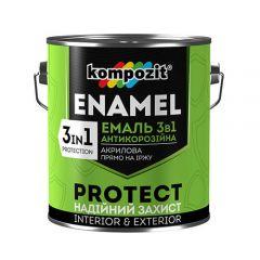 Эмаль антикоррозионная 3 в 1 Kompozit коричневый 2,7 кг