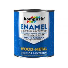 Алкидная эмаль ПФ 115 Kompozit (черная краска) 12 кг