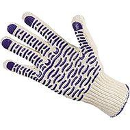 Перчатки трикотажные ХБ(черная ПВХ Волна)