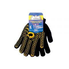 Перчатки черно-желтые Сталь