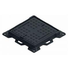 Люк чугунный квадратный ЛК-50.60.04-ВЧ кл. С черный 600х600 мм