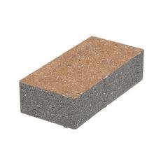 Тротуарная плитка Кирпич стандартный коричневая 60 мм без фаски Золотой Мандарин