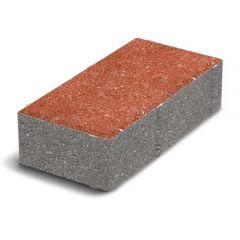 Тротуарная плитка Кирпич стандартный красная 40мм Золотой Мандарин