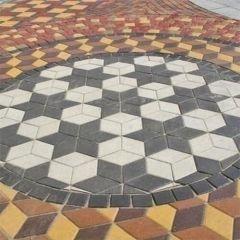 Тротуарная плитка Ромб Золотой Мандарин кладка