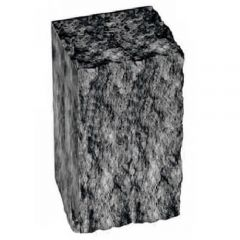 Столбик декоративный черный с мрамором 350х175х150 Золотой Мандарин