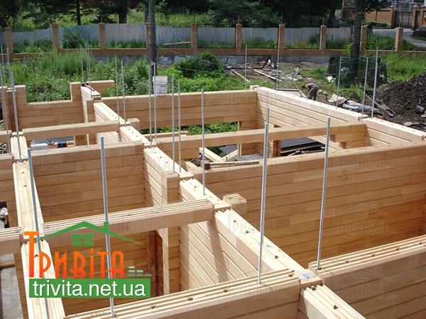 Будівництво стін з дерева
