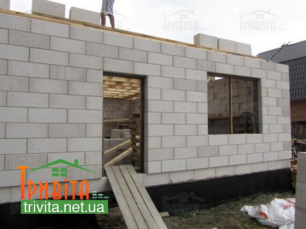 Строительство стен из газобетона