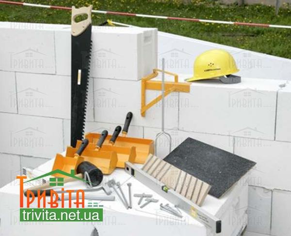 Фото 3. Які інструменти потрібні для роботи з газобетоном?